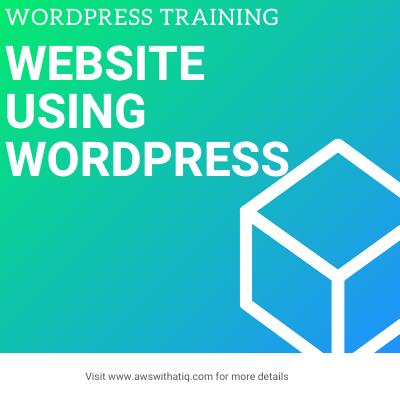 Website using WordPress